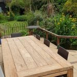Andrew P's Lowry Large 8 Seater 240cm Reclaimed Teak Rectangular Garden Dining Table