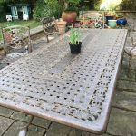 Jane A's Azur 10 Seater Rectangular Metal Garden Dining Set