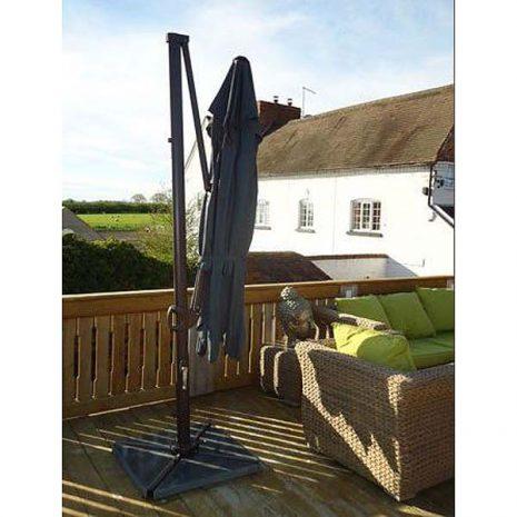 Bonnington Junior Tilting Cantilever Parasol Folded Down
