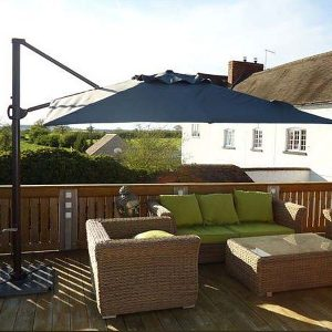 Bonnington Junior Tilting Cantilever Parasol Grey Canopy