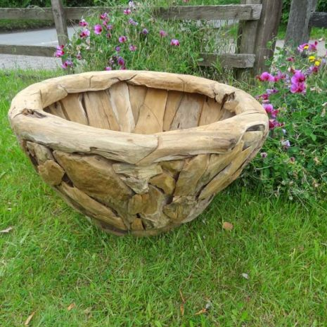 Giant Teak Root Round Garden Planter