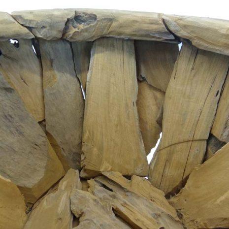 Giant Teak Root Round Garden Planter 80cm Interior 3