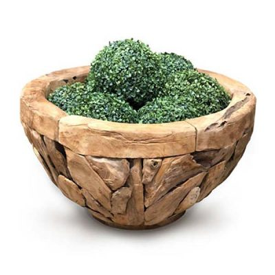 Giant Teak Root Round Garden Planter 80cm wide