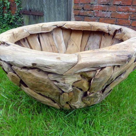 Giant Teak Root Round Garden Planter W80cm L80cm H45cm