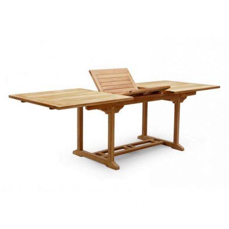 PJ_MSL_5839 Oswald Extra Large Rectangular Teak Extending Table 3m showing folding panels