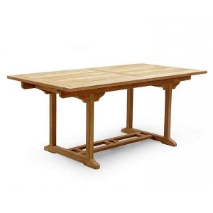 PJ_MSL_5840 Oswald Rectangular Teak Extending Table 240cm