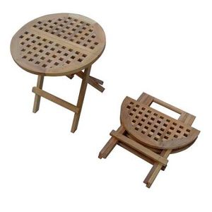 Round Folding Wooden Picnic Table 50cm