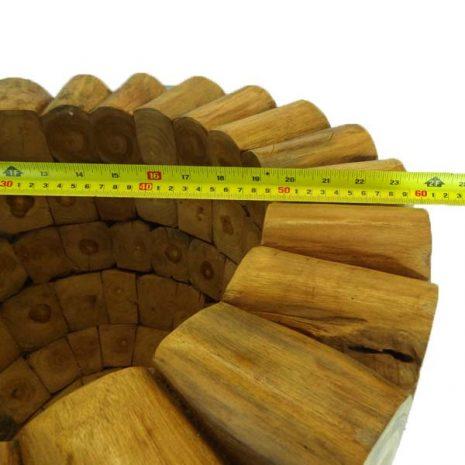 Round Teak Root Garden Planter - 10cm Thick