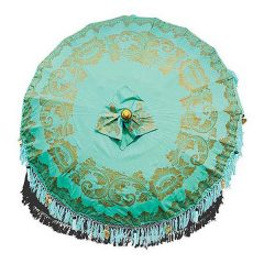 Bali Sun Parasol Umbrella 2m Mint and Gold PJ_MAK_MB75 X3-L