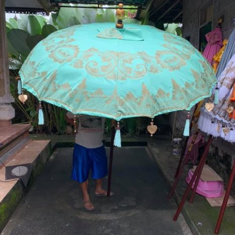 Balinese Traditional Sun Parasol during manufacture