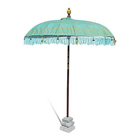 PJ_MAK_BB75 Traditional Balinese Sun Parasol Umbrella – Mint Green – Diameter 2m