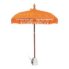 PJ_MAK_MB76 Traditional Balinese Sun Parasol Umbrella – Orange 2m