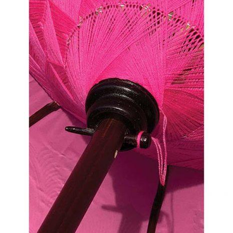PJ_MAK_MB77 - Traditional Balinese Sun Parasol - Pink - Detail of underside of canopy