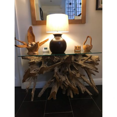 Bakulan Teak Root Small Console Table