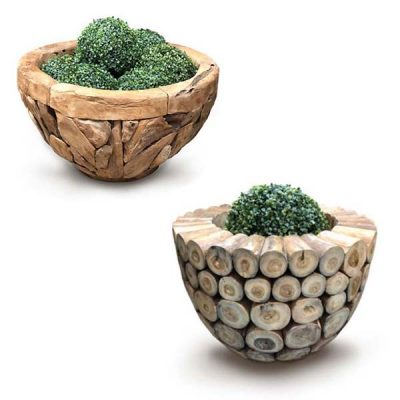 Giant Teak Root Planter Set