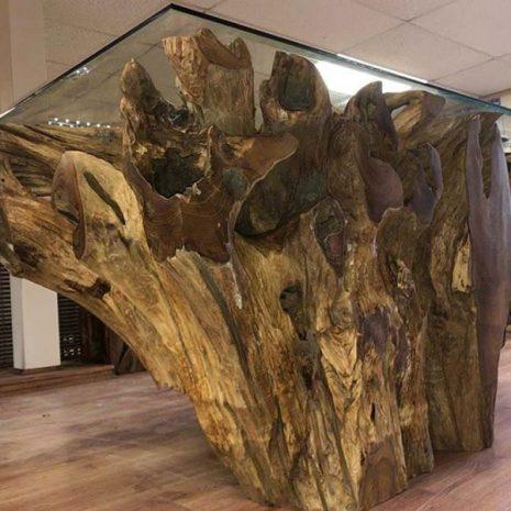 Kipling Reclaimed Teak Root Rectangular Dining Table 160cm