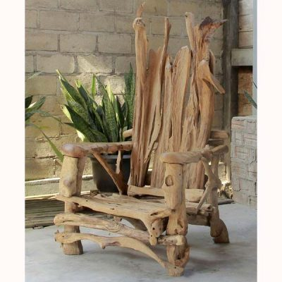 Kipling Teak Root Armchair Storytellers' Chair