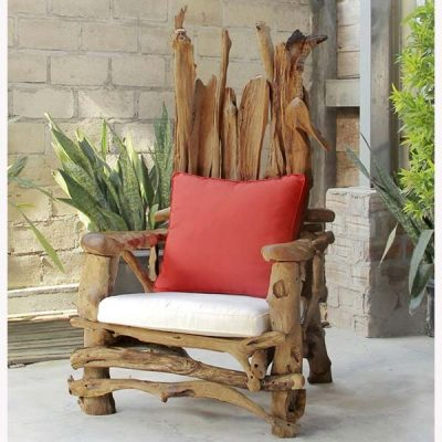 Kipling Teak Root Armchair Storytellers' Chair - Cushions not included
