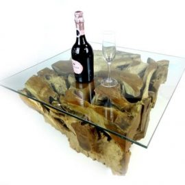 Padang Square Teak Root Coffee Table 70cm
