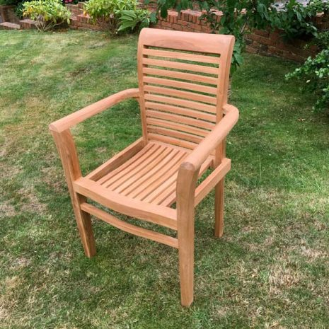 Saville Stacking Teak Garden Armchair