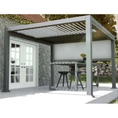 Mojave Metal Gazebo 3m x 3m Shuttered Roof