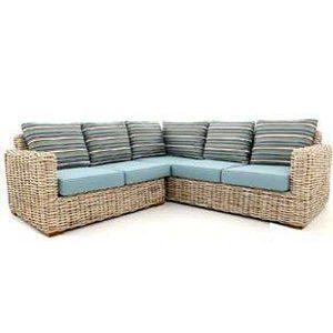 Poole Outdoor Rattan 5 Seater Corner Sofa