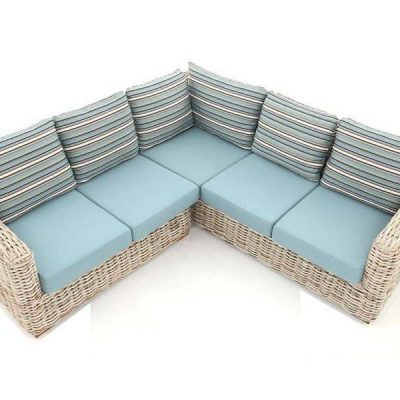 Poole Outdoor Rattan Corner Sofa 5 Seater
