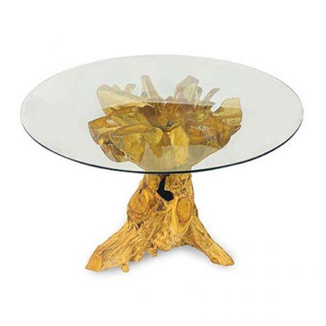 PJ_MAK_MJ617 - Lombok Teak Root Round Dining Table 120cm