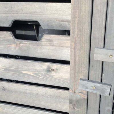 Grey Wheelie Bin Storage Units - Close up