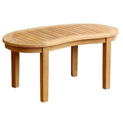 Outdoor Teak Half Moon Coffee Table