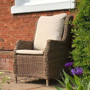 Willow Rattan Dining Armchair 2