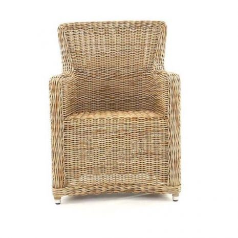Willow Rattan Dining Chair - without cushion - front