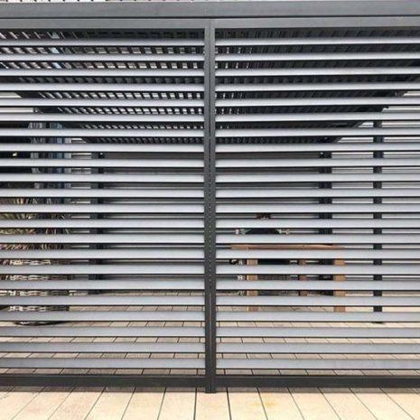 Mojave Gazebo 350cm Fence Panel - outside