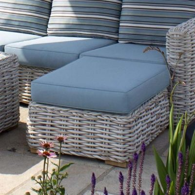 Poole Outdoor Rattan Footstool