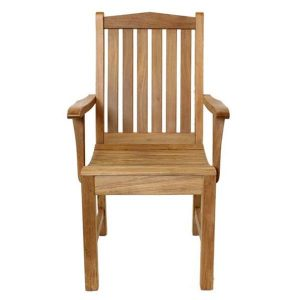 Rosen Sustainable Teak Garden Armchair Front View