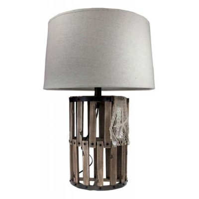 Beachcomber Lobster Trap Table Lamp plus Shade