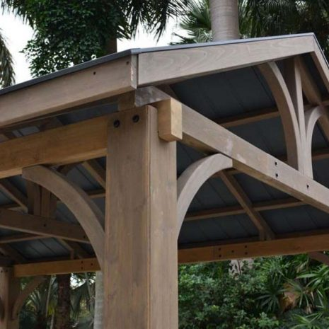 Colorado Cedar Wooden Gazebo - Close Up