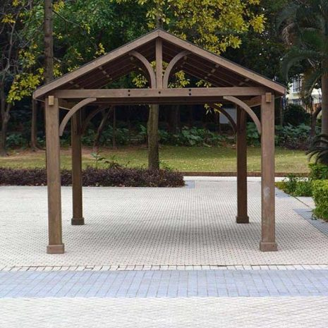 Colorado Cedar Wooden Gazebo End View