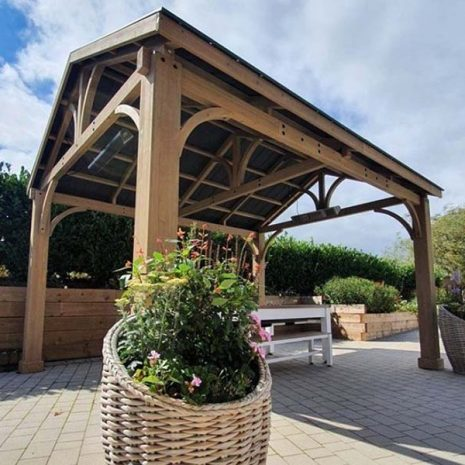 Colorado Cedar Wooden Gazebo Galvanised Steel Roof