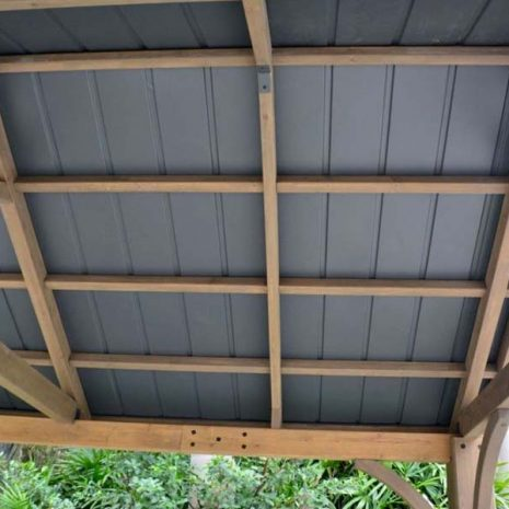 Colorado Cedar Wooden Gazebo - Underside of Roof