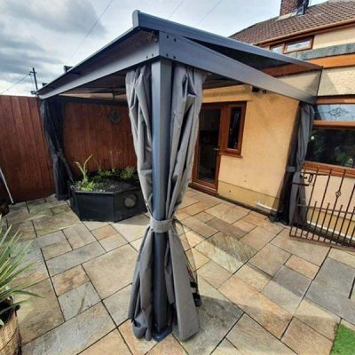 Curtain Sided Wall Gazebo On Patio