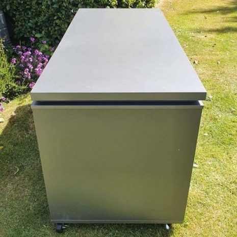 Mojave Aluminium Garden Storage Box - End view