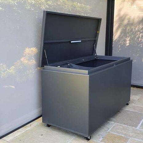 Mojave Aluminium Garden Storage Box - Open Lid