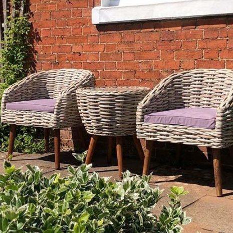 Poole Garden Rattan Bistro Set