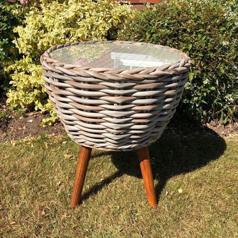 Poole Rattan Bistro Side Table