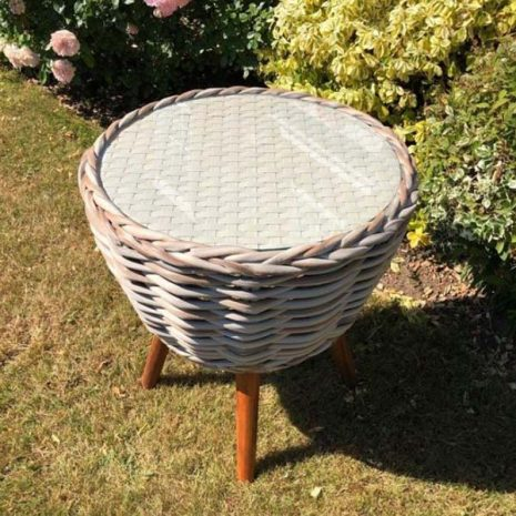 Poole Rattan Bistro Side Table - top