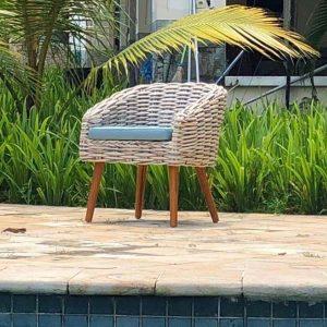 Poole Rattan Garden Bistro Chair