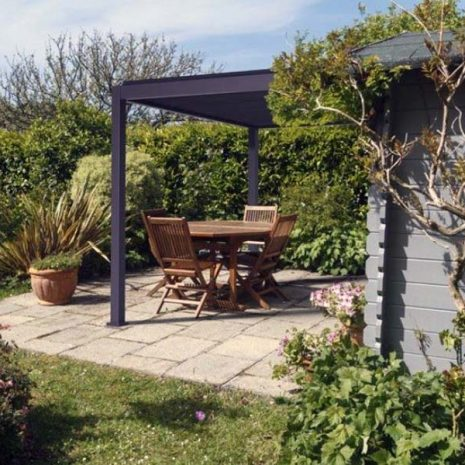 Namib Wall Mounted Pergola Aluminium Side view