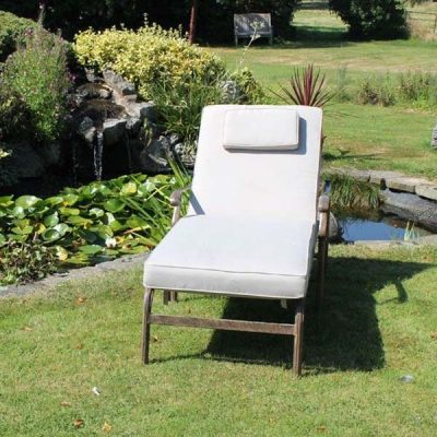 Azur Aluminium Sun Lounger Plus Cushion - Front view