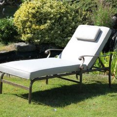 Azur Aluminium Sun Lounger With Cushion